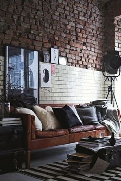 """styling an ikea """"stockholm sofa"""" leather - Google Search"""