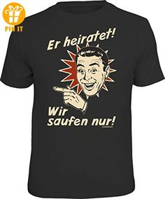Original RAHMENLOS® T-Shirt für das JGA-Team beim Junggesellenabschied links vom Bräutigam: Er heiratet... Größe L, Nr.1520 - T-Shirts mit Spruch | Lustige und coole T-Shirts | Funny T-Shirts (*Partner-Link)