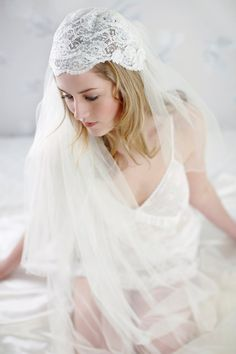Liliana Ivory Lace Swarovski Crystal Bridal Juliet by LovebySusie, £95.00