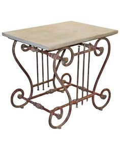 French Butcher Table  #Century #French