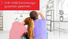 Gewinnen mit ein wenig Glück einen Einrichtungsgutschein im Wert von CHF 4'000.- für deine Wohnung oder dein Haus.  https://www.alle-schweizer-wettbewerbe.ch/gewinne-einrichtungsgutschein-im-wert-von-chf-4000/