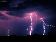 lightning storm petrified forest national park arizona