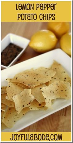 Lemon Pepper Potato Chips - Make them in your dehydrator! I could eat of these. Canning Recipes, Raw Food Recipes, Snack Recipes, Dehydrated Food Recipes, Canning Tips, Jar Recipes, Freezer Recipes, Freezer Cooking, Drink Recipes