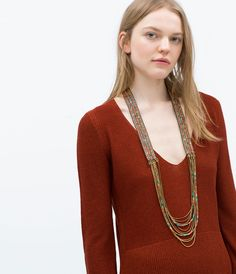 BEADS AND CRYSTALS NECKLACE-View all-Accessories-WOMAN-SALE | ZARA United States  I got this one and I get so much complement
