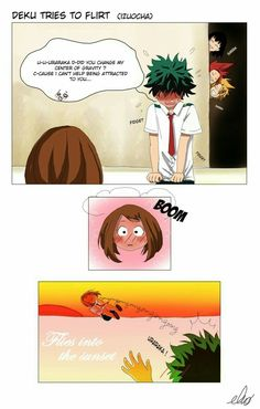 Deku tries to flirt uraraka