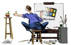 Windows from Apple. Linux, Apple Images, Windows 95, Tech Humor, Love Logo, My Father, Microsoft, The Past, Funny Memes