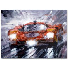 Red Mist (Ferrari 512S) Original Painting by John Ketchell