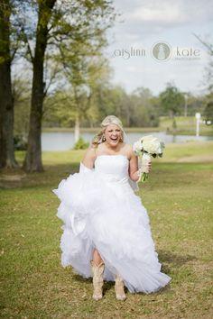 Bridal portraits  |  Cowboy boots  |  Farm wedding  |  Rustic wedding  |  Barn wedding  |  Alabama weddings  |  Aislinn Kate Photography