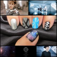 EXO / EXO-K / EXO-M - HISTORY Nail Art by Real Asian Beauty