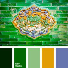 It is impossible to fail using the palette of green hues combined with yellow and emerald colors. These shades feel so comfortable together. By putting the stakes on bright green you guarantee your success.