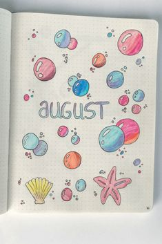 Plan with me – August bullet journal theme Hello august - bullet journal theme underwater sea creatures. Plan with me and be organized so you can start working on a healthy you. Improve your mental health selfgrowth. Bullet Journal August, Bullet Journal Tumblr, Self Care Bullet Journal, Bullet Journal Cover Ideas, Bullet Journal Notebook, Bullet Journal Aesthetic, Bullet Journal Spread, Bullet Journal Ideas Pages, Journal Covers