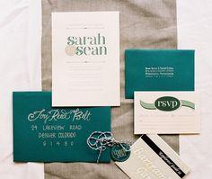 Bartram Gardens Outdoor Wedding. Love the hand lettering on the envelopes!