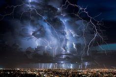"""Everglades lightning"". Miami, 2013. (Photo by lostINmia)"