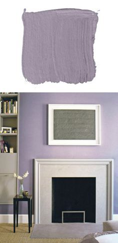 """C2, Bella Donna C2-316W: """"I've been using Bella Donna a lot. It's a smoky lavender gray, the color of a twilight sky. I used it on the parlor floor of a brownstone, and it looked flat-out sophisticated. I'm in the bedroom of my country house right now, which is painted this color. Bella Donna is a sexy, adult color, but it can go a lot of different ways."""" -DD Allen"""