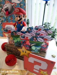 Sweet Table Mario & Cie pour Mathis.