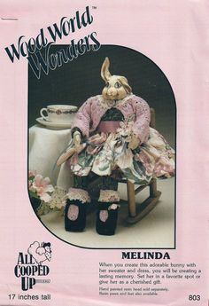 "BUNNY SEWING PATTERN - Vintage - Collectible - Hand Made - 17"" Tall - ""Melinda"" - at KrissesKorner on Etsy"