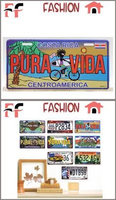 Vintage Tin Signs Metal Poster Retro Home Decor Costa Rica Centroamerica Placas Decorativas $6.49