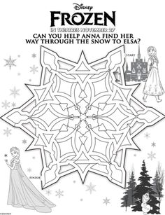FROZEN Activities...creating a Frozen Activity Book as a Party Favor and will include this maze