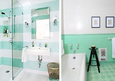 Blog déco design Joli Place #mint #bathroom