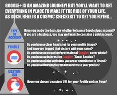 A cosmic infographic that is like having your own Google Plus Social Media Consultant!