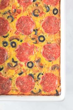 Pizza Breakfast Casserole {Whole30 + Paleo} Whole 30 Breakfast, Breakfast Pizza, Make Ahead Breakfast, Paleo Breakfast, Breakfast Casserole, Paleo Whole 30, Whole 30 Recipes, Ham And Eggs, Pizza Casserole
