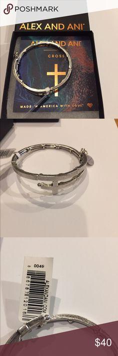 NWT Alex and Ani Cross Wrap New with Tags Attached Regular $48.00  Alex and Ani Cross Wrap - Silver Tone. Comes with Card & Box! Alex & Ani Jewelry Bracelets