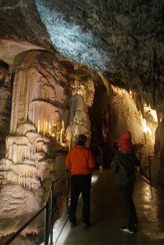 Met een treintje door de grotten van Postojna, Slovenië