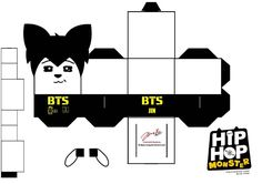 BTS Hip Hop Monster Jin Papercraft by ill-dope-swag.deviantart.com on @DeviantArt