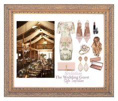 """Style Inspiration: The Wedding Guest"" by khouryolivia on Polyvore featuring Adrianna Papell, RED Valentino, Yves Saint Laurent, Bloomingdale's, Dina Mackney, MAC Cosmetics and Urban Decay"