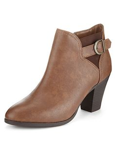 Buckle & Strap Ankle Boots with Insolia® | M&S