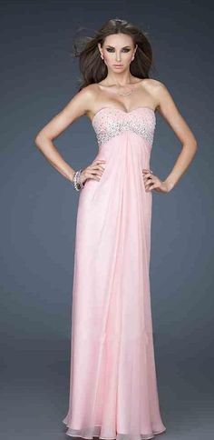 Fashion Pink No Waist/Princess Seams Sweetheart Chiffon A-Line Evening Dresses In Stock momodresses27147