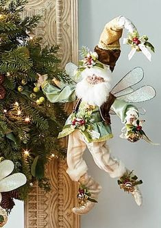 Clad in the finest and most festive hand-sewn finery, with features molded from original sculptures, Mark Roberts' Winter Wonderland Fairy is a sprightly and festive addition to any holiday home. All features and embellishments are carefully handcrafted by skilled artisans.