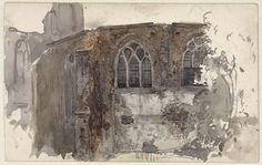 Ruïne van een kerk, Willem Anthonie van Deventer, c. 1834 - c. 1893