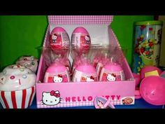 HUGE 18 HELLO KITTY SURPISE EGGS FOR GIRLS