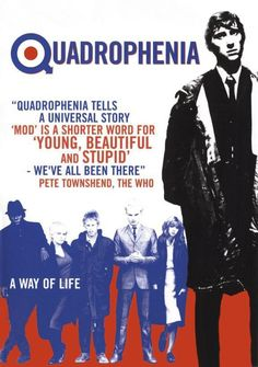 'The 1979 film 'Quadrophenia', loosely based on the 1973 rock opera of the same name by The Who. The film stars Phil Daniels as Jimmy who is a disillusioned Mod. In the film, the mods and rockers descend on Brighton for a bank holiday weekend.