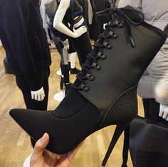 Discovered by $ H I $ H I. Find images and videos about fashion, black and luxury on We Heart It - the app to get lost in what you love. Black Hiking Boots, Black Boots, Black Pumps, Sexy Boots, Stilettos, High Heels, High Heel Boots, Dorothy Wang, Alexander Wang