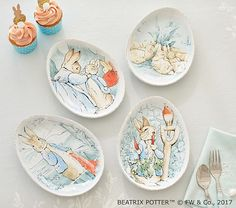 Baby Strict Nwt Pottery Barn Kids Easter Bunny Place Mat Plate Cup Tumbler Bowl Utensils