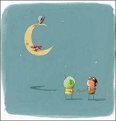 Over the moon: The Way Back Home by Oliver Jeffers