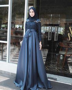Fashion 2019 New Moda Style - fashion Dress Brokat Muslim, Dress Brokat Modern, Gaun Dress, Kebaya Muslim, Dress Pesta, Hijab Prom Dress, Dress Brukat, Hijab Evening Dress, Batik Dress