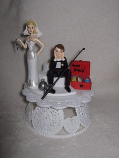 Out of the Box Fishing Wedding Cake Toppers Ideas-  Everyone will prepare the very best things for their perfect wedding day. Wedding cake is a must for every wedding party. It will complete your party ...