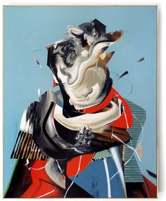 Dave Kinsey - Tequila Carousel, 2013 mixed media on canvas 40 x 32 inches
