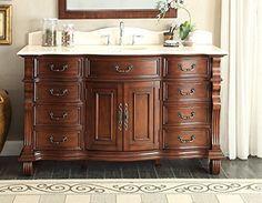 "60"" Large Single Sink Bathroom vanity cabinet - Model GD-4437M-60 Hopkinton"
