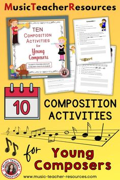 Composing Music: engage your students in creating - Bloom's highest level of cognitive learning. ♦ Each task has a different set of requirements for the student to fulfil when composing their melody. ♦ Have the student play their composition to the class or you the teacher choose a few to play for them. ♫ ♫ #mtr #musicteacher #musiced #musiceducation Music Teacher Resources Child Teaching, Teaching Music, Music Lessons For Kids, Music Worksheets, Music Composers, Music Activities, Music Classroom, Music Education, Teacher Resources