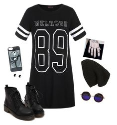"""""""Punk"""" by hanakdudley ❤ liked on Polyvore featuring Ally Fashion, Phase 3 and claire's"""