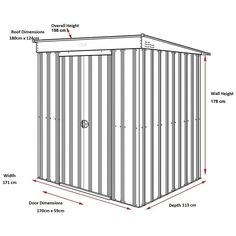 This Lotus Pent Slate Grey Shed offers you the highest specification for lightweight metal sheds. Visit Buy Sheds Direct for our superb range of metal sheds. Garden Tool Storage, Shed Storage, Built In Storage, Locker Storage, Extra Storage Space, Storage Spaces, Solid Sheds, Sheds Direct, Buy Shed
