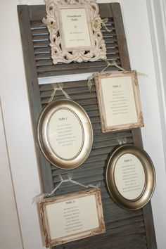 4 x 6 Printed Seating Charts for your Wedding or Shower. Ready to frame.. $15.00, via Etsy.