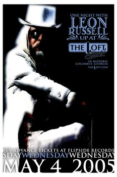Event Poster, Leon Russell, 2005. Leon Russell, First Night, Muse, Movie Posters, Fictional Characters, Design, Film Poster, Film Posters, Poster