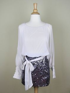 Holiday Sequin Dress in Cream - $65.00 : FashionCupcake, Designer Clothing, Accessories, and Gifts
