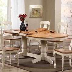 Iconic Furniture Oval Pedestal Dining Table - The best part about the traditional, farmhouse style is being able to gather your whole family around the table, and the Iconic Furniture Oval...