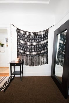 The macrame wall art is from Urban Outfitters.